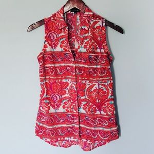 The Limited Coral Bohemian Blouse Tank